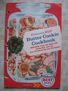 Pillsbury's Best Butter Cookie Cookbook. Christmas baking.