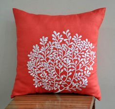 White Coral Fan   Decorative Pillow Cover 18 x 18   by KainKain, $22.00