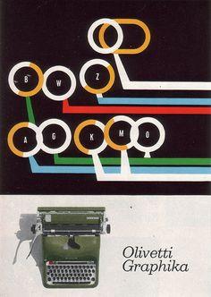 Giovanni Pintori for the Olivetti Graphika, 1959