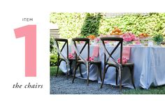 How to Style a Wedding Table // Styling by Anne Book // Item One: The Chairs