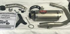 Yoshimura Exhaust Slip-on System Honda Monkey 125 Motorcycle Parts And Accessories, Desks, Monkey, Honda, Stencils, Mesas, Jumpsuit, Monkeys, Templates