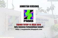 Jawatan Kosong di Percetakan Nasional Malaysia Berhad (PNMB) - 15 Julai 2016  Jawatan kosong terkini di Percetakan Nasional Malaysia Berhad (PNMB) Julai 2016. Permohonan adalah dipelawa daripada warganegara Malaysia yang berkelayakan untuk mengisi kekosongan jawatan kosong di Percetakan Nasional Malaysia Berhad (PNMB) sebagai :1. SALES CONSULTANTWe provide attractive remuneration package includes Sales Commission base out-patient dental & medical benefits hospitalization & surgical coverage…