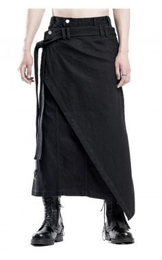 Chaos From Undermind denim wrap skirt