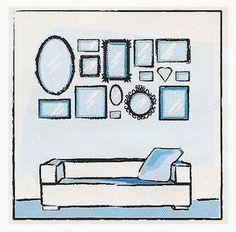 Arranjo de quadros na parede ~ Blog Tudo Junto e Misturado