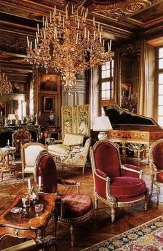 The salon at Hotel Lambert in Paris
