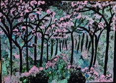 colorful forest painting  $339