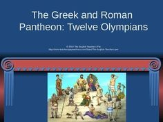In need of a unique supplementary material for your Mythology unit?  Included is a 15 slide PowerPoint presentation on the 12 Gods of the Greek and Roman Pantheon. Each slide gives both the Greek and the Roman Names for the Gods, a picture, their relationships to the other Gods, their personalities, and deeds for which they are famous.  Ready to show in your class today! Grades 6-12. $
