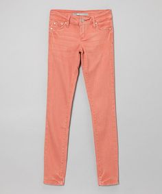 Take a look at this Sunset Skinny Jeans - Girls by Tractr on #zulily today!