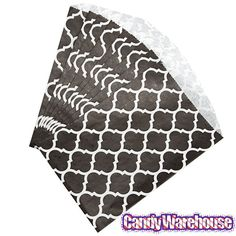 Just found Black Casablanca Pattern Candy Bags: 25-Piece Pack @CandyWarehouse, Thanks for the #CandyAssist!