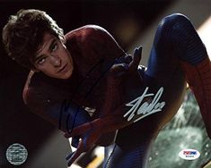 Stan Lee & Andrew Garfield Spider-Man Signed Authentic 8X10 Photo PSA #W24900 @ niftywarehouse.com #NiftyWarehouse #Geek #Gifts #Collectibles #Entertainment #Merch