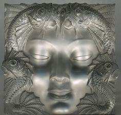 RENE LALIQUE (1860-1945) « Masque de Femme, Mermaid » en verre