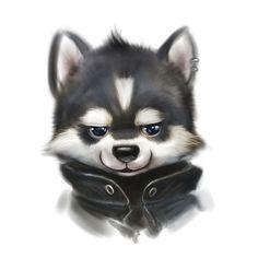 Husky head by Silverfox5213 on DeviantArt