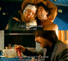 The Darjeeling Limited, dir. Wes Anderson. My favorite scene in the entire movie...
