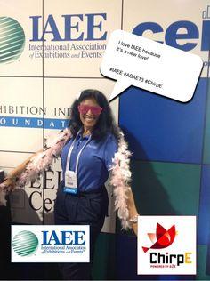 I love IAEE because it's a new love! #IAEE_HQ #ASAE13 #ChirpE #IAEE_MYM