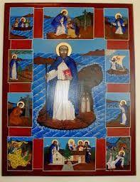 The Twelve Apostles of Ireland (also known as Twelve Apostles of Erin) were twelve early Irish monastic saints of the sixth century who studied under St Finian at his famous monastic school Clonard Abbey at Cluain-Eraird. They are said to have been: Saint Ciarán of Saighir, Saint Ciaran of Clonmacnoise, Saint Brendan of Birr, Saint Brendan, Saint Columba of Terryglass, Saint Columba, Saint Mobhí, Saint Ruadhain, Saint Senan, Saint Ninnidh, Saint Laisrén mac Nad Froích, Saint Canice.