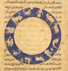 Image from an Arabic manuscript featuring schematics for water powered systems, pulleys and gearing mechanisms. The date is unknown but is thought to be from sometime between the 16th and 19th century.