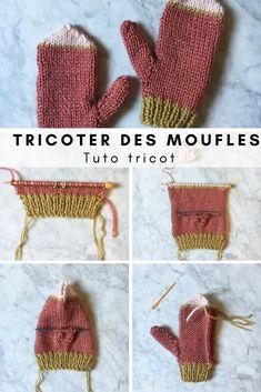 Tuto tricot pour tricoter une paire de moufles - Marie Claire Idées