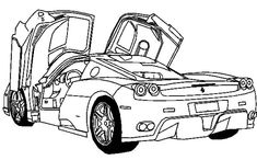 Ferrari coloring pages   Cool coloring pages, Coloring pages ...   146x235
