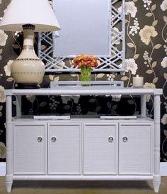 Bungalow 5 Furniture   Storage Shelving   FAIRFAX 4-DOOR CABINET, WHITE