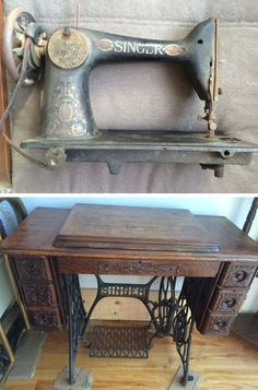 Antique Singer sewing machine circa 1909. A very stunning piece!