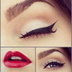Classic    #makeup #redlips #redlipstick #classic #classy #beautiful #beauty #classicbeauty #classicmakeup #classy #winged #eyeshadows #eyeliner #eyelinerwinged #wing #bestylus #blueeyes