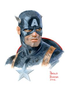 Captain America (The Self-Absorbing Man: New York Comic Con Commissions)