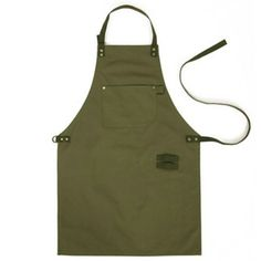 Army Green Denim Style Aprons Catering Kitchen apron Unisex Woman Men Male Lady Cooking Restaurant Barista Work Apron Delantal