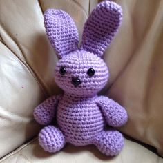 This lavender crochet bunny is too cute! It would make a great cute little gift!