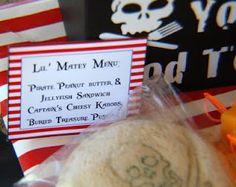 "pirate food - ""peanut butter & jellyfish sandwiches"""