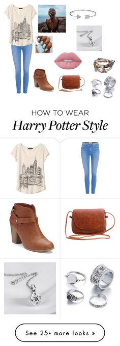 """Untitled #72"" by kassidi-nicole-w on Polyvore featuring Paige Denim, Banana Republic, LC Lauren Conrad, Bling Jewelry and Lime Crime"