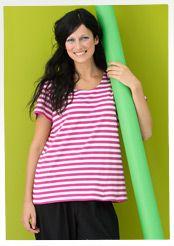 T-shirt à rayures basiques en coton bio