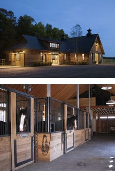 These stables in Vermont are beautiful, especially in the fall.