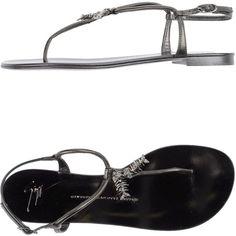 Giuseppe Zanotti Design Thong Sandal ($378) ❤ liked on Polyvore