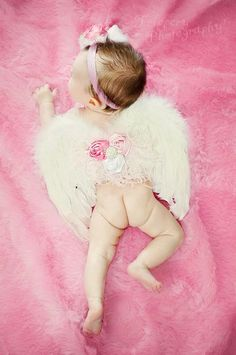 White Newborn Infant Angel Wing Set Photo Prop by FrenchFrills, $28.95