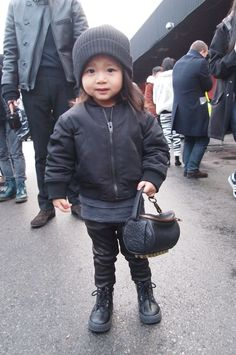 Omg with the mini Alexander Wang Rocco!! How cute!