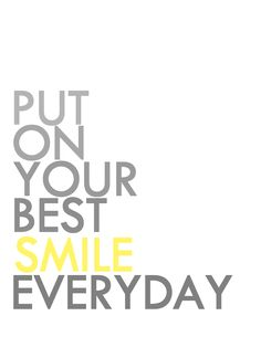 """Smile Print...""""Put on your best SMILE"""""""