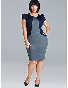 Feel as sassy and chic as you please in the Ava Dress. This effortless frock transitions perfectly from the office to a night on the town. Ava features expert tailoring, luxurious cotton sateen, double knit Ponti combo fabric, cap sleeves, and a full back zipper for ease of fit. Pair this Dress with a sleek pump and statement bag to finish the look.    Model is wearing a 1X(14/16)  Dress Length: 42' from shoulder to hem  Expert tailoring  Full back zip  Stretch Cotton Sateen (Stretch Cotton…