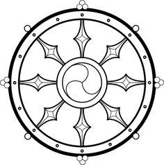 wheel of life Roda Do Dharma, Buddhist Wheel Of Life, Buddhism Tattoo, Glyphs Symbols, Tibetan Tattoo, Wheel Tattoo, Dharma Wheel, Dog Wheelchair, Trippy Drawings