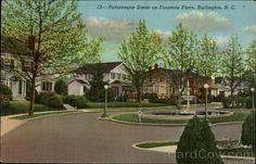 Picturesque Scene on Fountain Place Burlington North Carolina