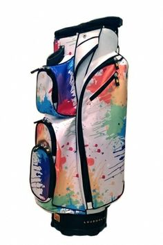 Molhimawk Loudmouth Golf Cart Bag with Drop Cloth print | #golf4her #golfbag