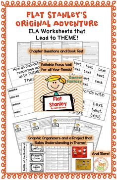 Are you looking for a way to engage your students ELA concepts while using Flat Stanley's Original Adventure? These activities do just that! Stanley learns so much through his experiences and your students will be able to spot the lessons he learns along the way! At the end, they get to share their learning in a fun project that lets them showcase what they have learned about theme! Great fun and learning all in one! Get it now at The Best Days!