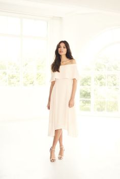 Gorgeous bardot bridesmaid dress, or perfect for a wedding guest
