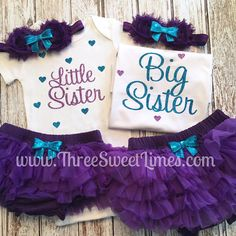 Little Sister Big Sister Outfit Baby Clothes Promoted to Big Twin Girls Outfits, Big Sister Outfits, Matching Sister Outfits, Newborn Outfits, Kids Outfits, Baby Outfits, Big Sister Little Sister, Baby Sister, Little Sisters