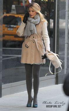blake lively gossip girl fashion | Television---Blake-Lively---Gossip-Girl-Set---January-2012