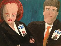 This is the most exact X-Files artistic vision we've seen… Bad Fan Art, Canvas 5, Strange Photos, Trending Memes, The Darkest, Ronald Mcdonald, Baseball Cards, Explore, Funny