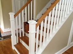 Stairs and rail by Gorsegner Brothers Hardwood Flooring Stainless Steel Stair Railing, Cable Stair Railing, Stair Railing Kits, White Staircase, Staircase Railings, Stairways, Banisters, Glass Stairs, Wooden Stairs