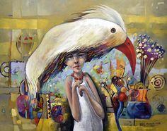 Andrzej Gudanski - Head full of dreams Surrealism, Auction, Symbols, Canvas, Painting, Dreams, Tela, Painting Art, Canvases