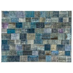 Turkish Patchwork Rug | From a unique collection of antique and modern turkish rugs at https://www.1stdibs.com/furniture/rugs-carpets/turkish-rugs/