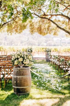 Go inside this vineyard wedding with gorgeous scenery and rustic décor on PartySlate—you won't want to miss it.   #weddingideas #weddingaisle #weddingflowers #outdoorwedding #summerwedding #futurewedding #dreamwedding #weddingplanning Industrial Wedding, Rustic Wedding, Summer Wedding, Dream Wedding, Stunning View, Beautiful, Outdoor Events, Vineyard Wedding, Flower Petals