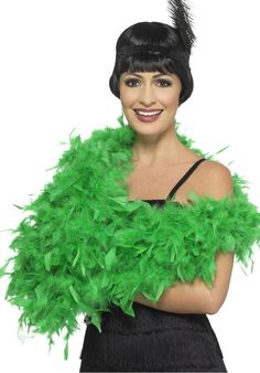 This Deluxe Boa in emerald green is the perfect accessory to complete any burlesque or flapper girl outfit. Fancy Dress Accessories, Costume Accessories, Six Nations Rugby, Funky Design, Doll Repaint, Burlesque, Pride, Girl Outfits, Costumes